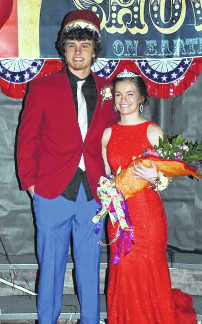 Fort Loramie prom king Nathan Raterman, son of Ron and Jo Raterman, and Queen Amy Eilerman, daughter of Rusty and Kristie Eilerman, were crowned during the school's prom ceremony on Friday, April 26.