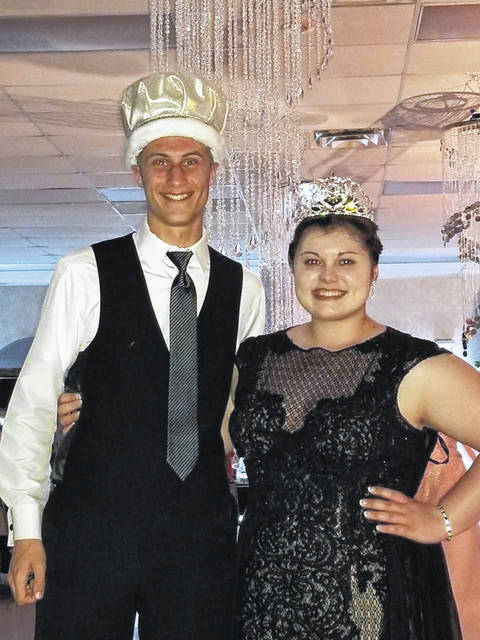 Ethan Knouff, son of Craig and Teresa Knouff, and Shelby Ayers, daughter of Amy Ayers and the late Scott Ayers, were crowned king and queen during Houston's junior and senior prom on Saturday, April 6, at the Shelby Oaks Club.