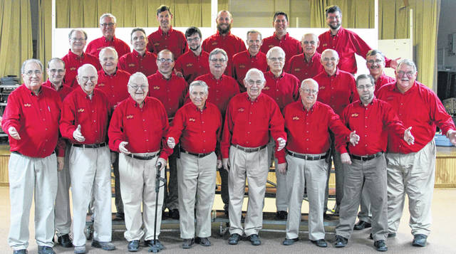 The Miami Shelby Melody Men Barbershop Chorus will perform its 65th annual concert in Piqua, April 27.