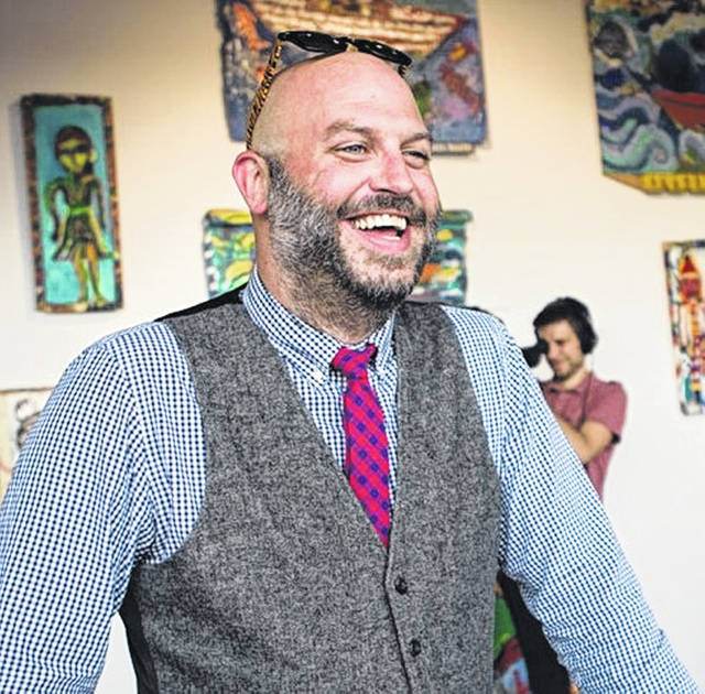 "Sidney native Travis Hoewischer is the host of ""Laff Raffle for the Arts"" fundraiser on April 13, which will raise funds for the Sidney Historic Theatre."