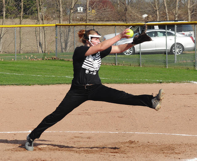 Sidney's Lauren Barker pitcher during a Greater Western Ohio Conference American North Division game on Tuesday in Sidney.