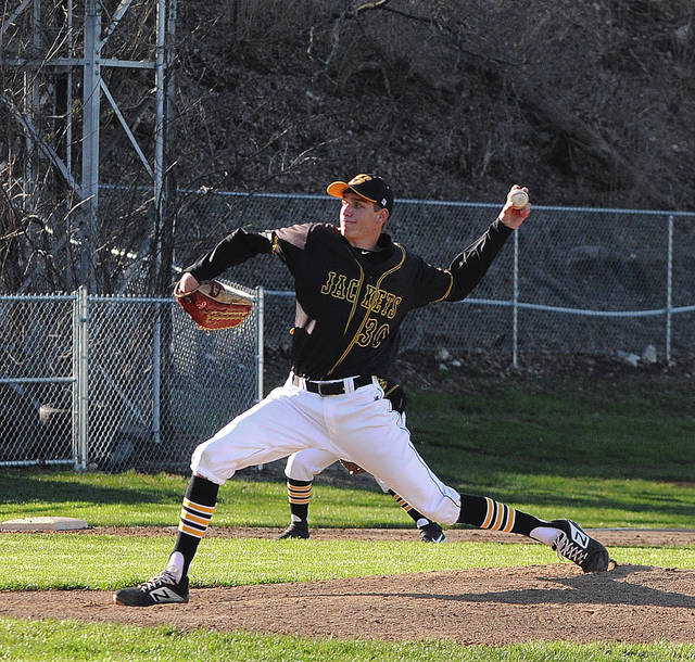 Sidney junior pitcher Trey Werntz throws during a Greater Western Ohio Conference American North Division game on Monday in Piqua.