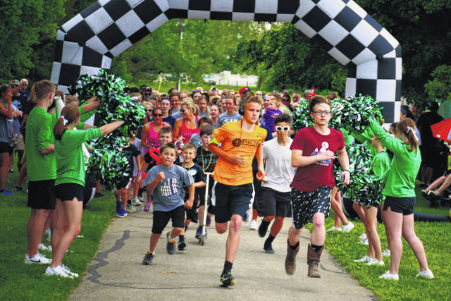 Children open the 2018 Sidney Great Strides 5K to raise money for cystic fibrosis research. This year's event will be May 19 in Custenborder Field in Sidney.