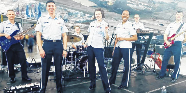 Pictured is the United States Air Force Band of Flight Rock Band scheduled to perform a concert on the grounds of the Shelby County Courthouse on June 7 at 7 p.m. The concert is set to commemorate the first meeting of the Shelby County Commissioners in 1819.