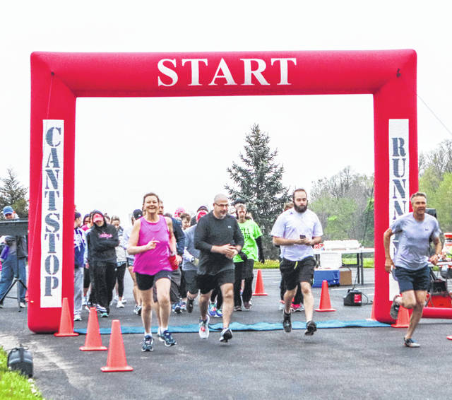 A 5K run/walk began the 40th anniversary celebration for Sidney Christian Academy School Saturday morning. A food truck rally was also part of the celebration.