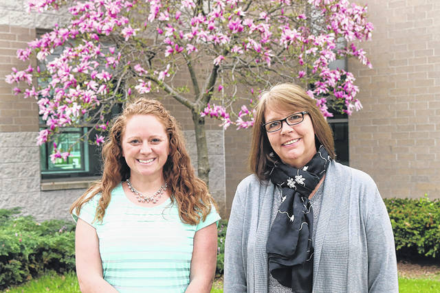Lisa Hartwig and Lisa Hall are named 2019 Spring Employees of the Semester at Edison State Community College.