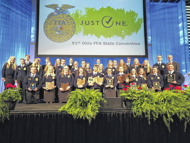 Houston FFA members received numerous awards at the FFA state convention.