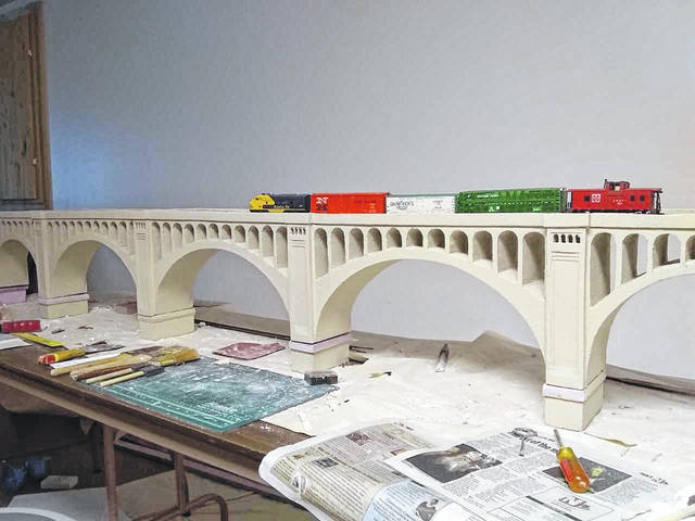 Piqua Arts Council will host its Model Trains and Train Artwork Exhibit through May 24.