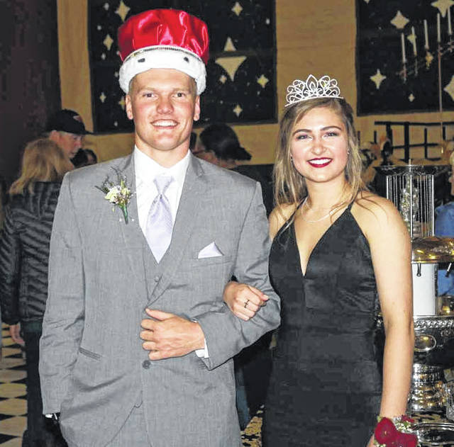 New Bremen students Grant Selby and Rylie Schafer were crowned king and queen during the school's prom ceremony on Saturday, April 21.