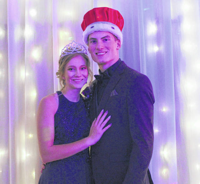 Dana Jones, daughter of Diana Jones, of DeGraff, and Derek Jones, of Jackson Center, and Ollie Jacobs, son of Angela Hersh, of Lima, and Jason Jacobs, of DeGraff, were crowned queen and king of Riverside High School's junior-senior prom on Saturday, April 27.