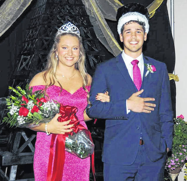 Jenna Cordonnier, daughter of Rob and Lori Cordonnier, and Carter Francis, son of Ken and Julie Francis, were crowned queen and king during the school's prom events on Saturday, April 27.