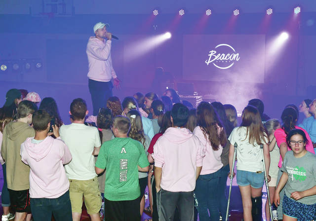 The Christian hip hop band Beacon Light gives a free concert that was open to the public at the Anna High School auditorium Tuesday, May 14.