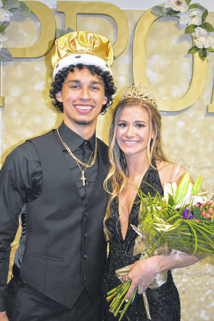 "Andre Gordon and Elaine Wiesenmayer were crowned Sidney High School king and queen during Saturday's prom held at Fort Piqua Plaza. The theme for the prom was ""A Dream Come True."" Gordon is the son of Tracy Williams. Wiesenmayer is the daughter of Rob Wiesenmayer and Carmen Heintz."