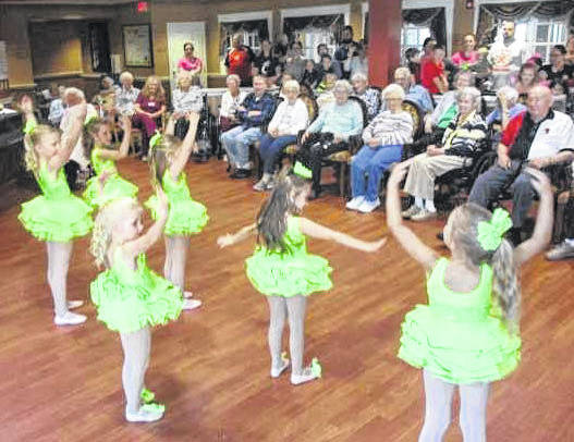 "Elmwood Assisted Living of New Bremen welcomed the ""Twinkle Star Dancers"" from Boyd Dance Studios, in New Bremen. Elmwood residents gathered in the facility's ""Cardinal Corner"" to watch over 30 young dancers perform. The dancers ranged in age from 2 1/2 years to five years old."