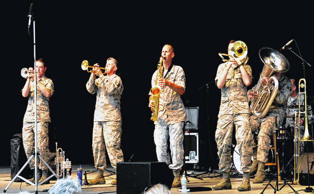 Pictured is the United States Air Force Band of Flight Rock Band that is set to perform a patriotic concert in Sidney on June 7 as part of the Shelby County Bicentennial celebration.