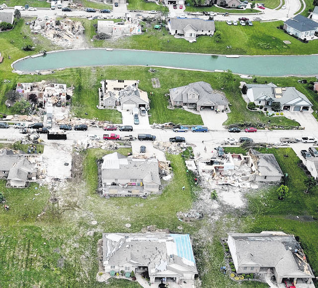 Residents in Celina are continuing their cleanup efforts following the Memorial Day tornado which struck the northside of the city. These aerial photographs show the extent of the damage.