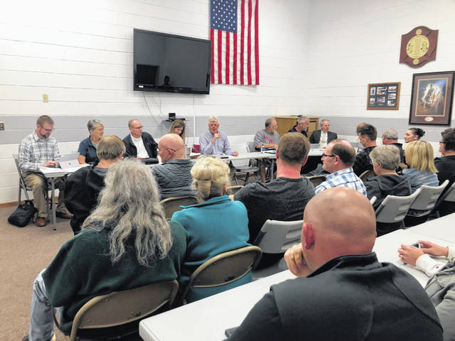 A group of New Bremen residents attended Monday's village council meeting to listen to plans for the construction of a third electrical substation in the village.