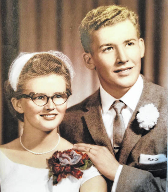 The Bizas on their wedding day in 1959.