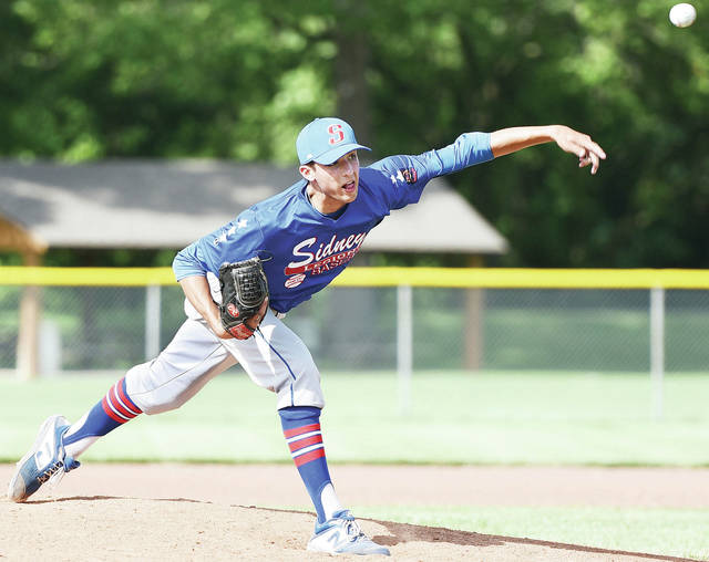 Sidney Post 217's Daniel Kearns pitches during an American Legion game against Napoleon Post 300 on Wednesday in Sidney.