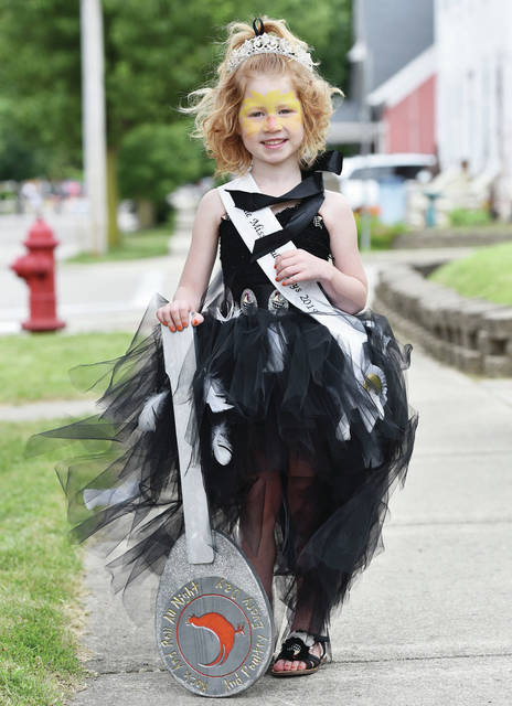 Grace Brunswick, 5, of Osgood, daughter of Connie and Dave Brunswick, was crowned Little Miss Poultry Days.