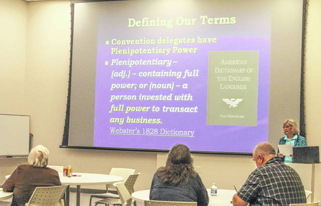 Ricki Pepin visited Sidney Monday evening to discuss the possible negative effects Article V, also known as the Convention of States, could have on the U.S. Constitution.