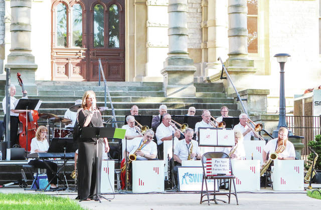 The Sidney Civic Band performs on the courtsquare Friday, June14.