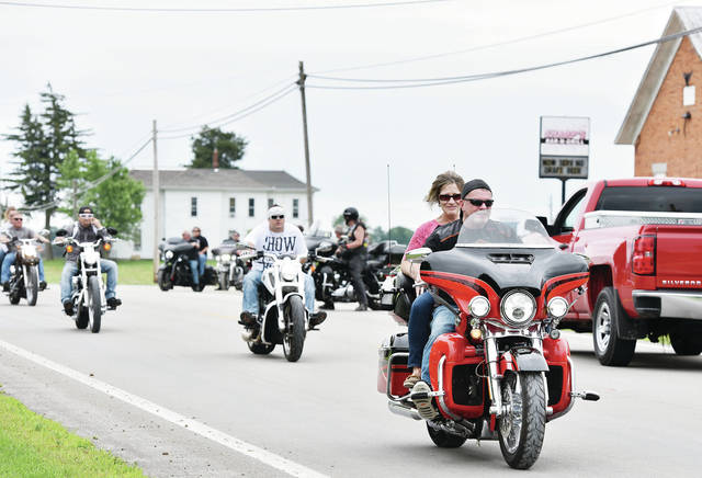 Bikers take-off from Sharp's Bar and Grill to start Sharp's 1st Annual Relay Ride Saturday, June 22. Stops on the ride were Cruizers, Scudzy's, Meyer's, Inn Between and The Pines.