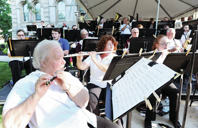 "The Sidney Civic Band performs the concert ""America's ""Broadway Shows"" on the courtsquare Friday, June 28. The concert was part of the band's summer concert series."