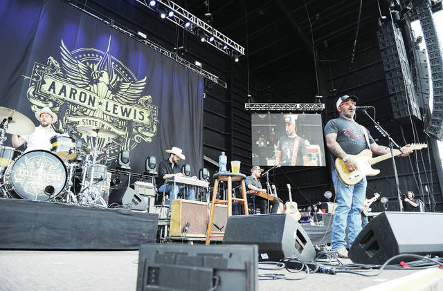 Aaron Lewis performs at Country Concert Thursday, July 12.