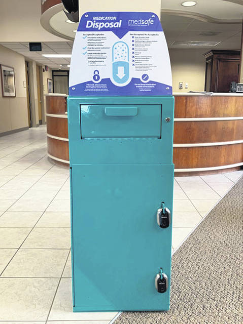 A permanent MedSafe medication collection and disposal receptacle has been installed in the Main Lobby of Joint Township District Memorial Hospital.