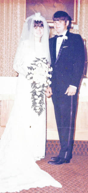 The Husseys on their wedding day, July 5, 1969.