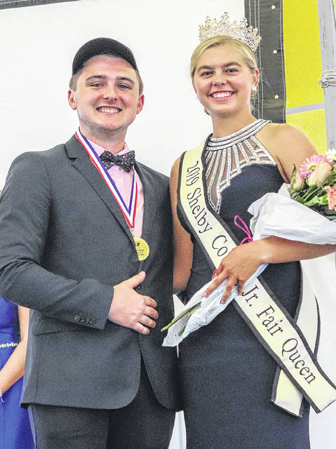 Evan Burden and Morgan Ely weere crowned the 2019 Shelby County Fair King and Queen Sunday night.