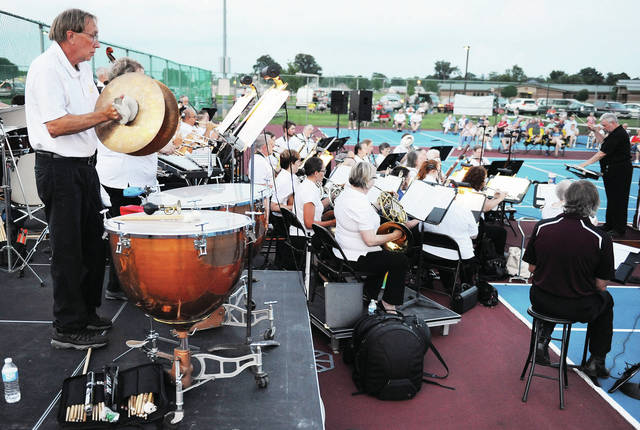 The Sidney Civic Band performs before the start of the 2019 Sidney fireworks Thursday, July 4.
