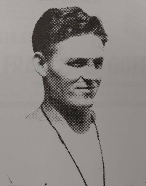 Wayne Gibson was just 26 when he was hired as head football coach of the Sidney Yellow Jackets in 1948. This photo is from the opening night program.