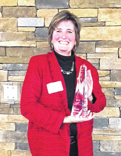 Nominations are open for the Sidney-Shelby County Chamber of Commerce's 2019 Zenith Award. Cindy Helman was the 2018 Zenith Award winner.