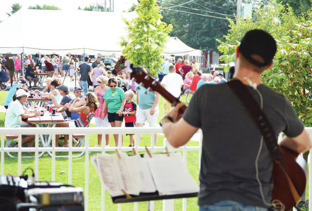Mark Cantwil performs during Summer Gazebo Party at Canal Park in Fort Loramie on Sunday, Aug. 18. The Fort Loramie Chamber of Commerce and the Village of Fort Loramie held the event which featured food trucks, bounce houses and kids game with back to school gifts for prizes.