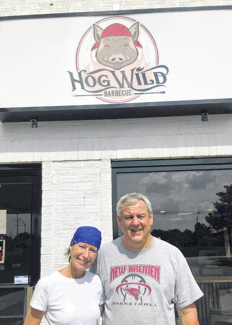 Brenda and Dane Cook opened Hog Wild BBQ in New Bremen, a restaurant that specializes in Southern-influenced brisket, chicken, ribs and pulled pork.