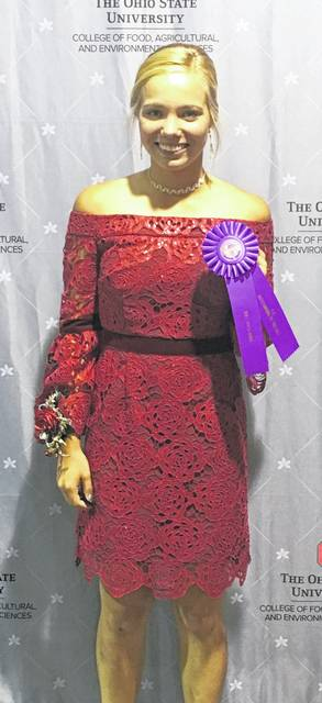 Katelyn DeLoye, 16, received an Outstanding of the Day award at the 2019 Ohio State Fair for her outfit Dress Up Outfit - Formalwear. She is the daughter of Scott and Lynn DeLoye, Fort Loramie, and is a member of Merry Mod Makers 4-H Club,.