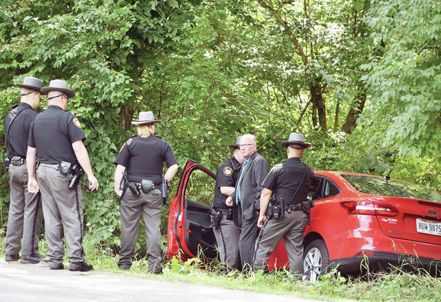 A single male driver from Piqua ran off of Miami River Road just north of its intersection with Lockington Road around 2:35 p.m. on Wednesday, Aug. 14. The driver was taken away by Houston ambulance. The cause of the driver going off the road is being investigated. The Lockington fire department and Shelby County Sheriff's Office responded.