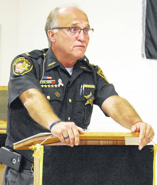 Al Solomon fought back tears Friday during a press conference where he announced that his current term as sheriff of Auglaize County will be his last.