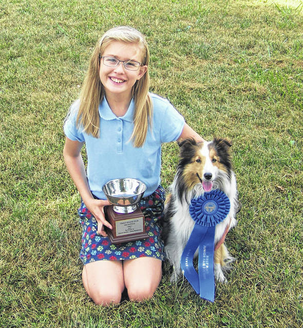 Lindsey Thornhill, 12, was awarded first place in Pre-Novice Obedience at the Ohio State Fair. She is a member of Dog Gone 4-H Club. Lindsey is the daughter of Ron and Carin Thornhill, of Anna.
