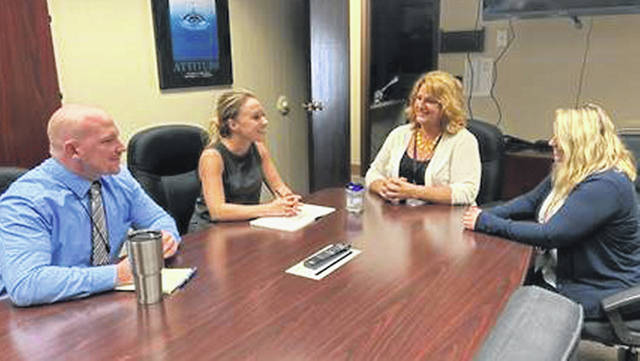 State Rep. Susan Manchester, second from left, visited Auglaize County Job & Family Services.
