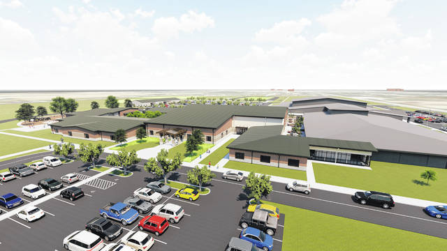 Pictured is Garmann/Miller's exterior rendering of New Bremen Local Schools' new $17 million elementary school. Courtesy image