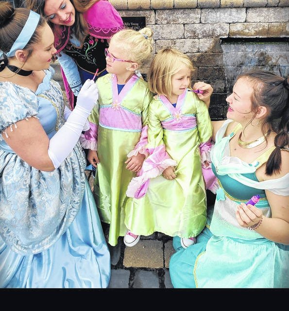 Princesses Paige Pennington, daughter of Shane and Michelle Pennington; Jocelyn McDonald, daughter of Scott and Sherry McDonald; and Zoey Douglas, daughter of Brian and Danelle Douglas, help pamper Quinn McMahon, daughter of Dan and Cara McMahon, and Emma Middleton, daughter of Allan and Susan Middleton, during the 2018 Princess Spa Day. This year's event will be held Sunday, Sept. 29, at Fairlawn Local Schools.