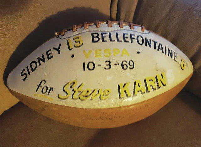 Senior linebacker and special teamer Steve Karn stepped up to earn the game ball at Bellefontaine in 1969. Though not a star player, Karn was one of many difference makers during the challenging middle year of 30 and 0.