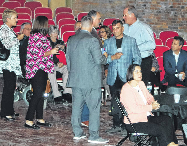 Approximately 75 community and business leaders attended a Sidney-Shelby Economic Partnership gathering Tuesday evening at the Historic Sidney Theatre.