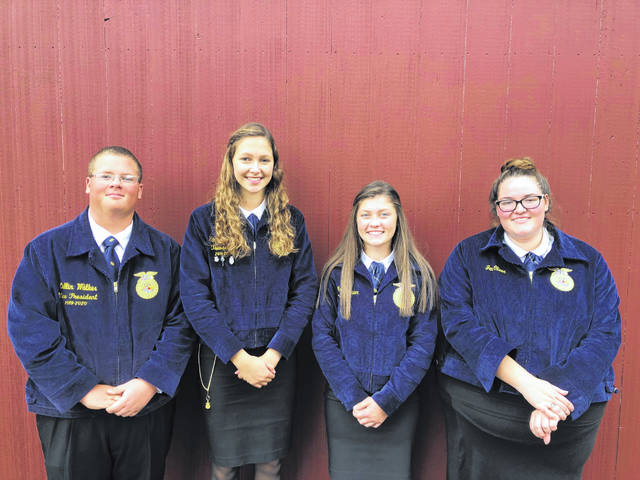 The Houston-UVCC FFA team of Collin Walker, Hannah Hollinger, Megan Maier and Jen Oliver competed in the Big E Contest.