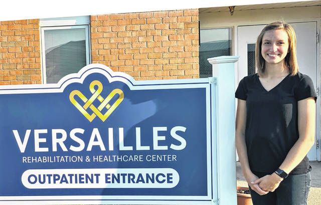 Katie Barga, of Russia, joined the Versailles Rehabilitation and Healthcare Center team as a physical therapist in September.
