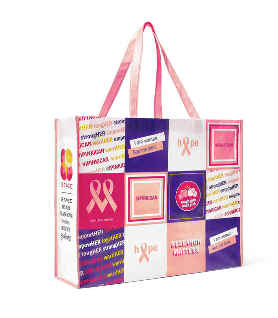 Gordmans will donate $2 to the Breast Cancer Research Foundation for the purchase of each reuseable shopping bag featuring supportive sayings such as strongHER and #ipinkican.