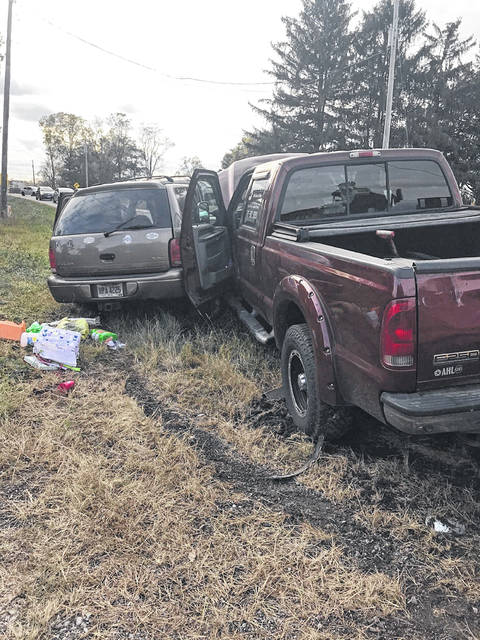 A tan 2000 Dodge Durango, driven by Laura Velazco, 34, of Sidney, was traveling westbound on state Route 47 when it pulled from the stop sign at state Route 235 and into the path of a southbound, maroon 2006 Ford F250 truck, driven by Jeff Watkins, 53, of Sidney, Thursday evening. According to Logan County Sheriff's Office, the Durango's front seat passenger, Mary Velazco, 59, of Sidney, later died as a result of injuries sustained in the crash.
